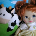 Redhead curly piggies girl