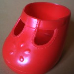 Scarpetta rossa spaiata 2